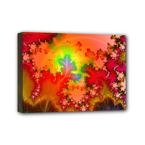 Background Abstract Color Form Mini Canvas 7  X 5  (stretched)