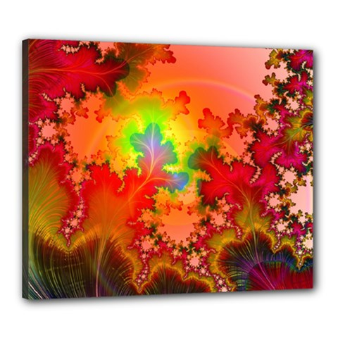 Background Abstract Color Form Canvas 24  X 20  (stretched)