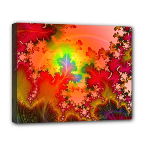 Background Abstract Color Form Deluxe Canvas 20  X 16  (stretched)