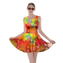 Background Abstract Color Form Skater Dress