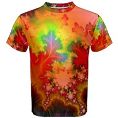 Background Abstract Color Form Men s Cotton Tee