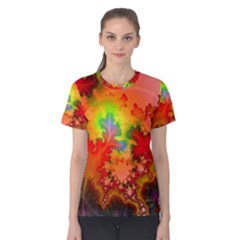 Background Abstract Color Form Women s Cotton Tee