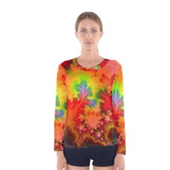 Background Abstract Color Form Women s Long Sleeve Tee