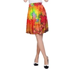 Background Abstract Color Form A Line Skirt
