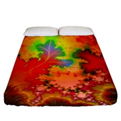Background Abstract Color Form Fitted Sheet (queen Size)