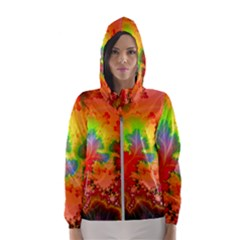 Background Abstract Color Form Women s Hooded Windbreaker