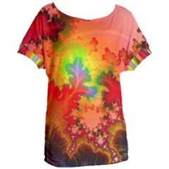 Background Abstract Color Form Women s Oversized Tee