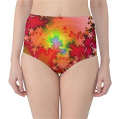 Background Abstract Color Form Classic High Waist Bikini Bottoms