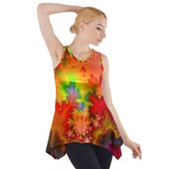 Background Abstract Color Form Side Drop Tank Tunic