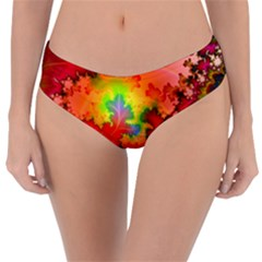 Background Abstract Color Form Reversible Classic Bikini Bottoms