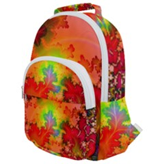 Background Abstract Color Form Rounded Multi Pocket Backpack