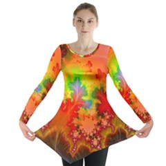 Background Abstract Color Form Long Sleeve Tunic