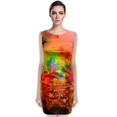 Background Abstract Color Form Classic Sleeveless Midi Dress