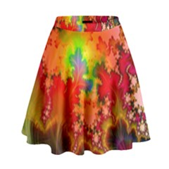Background Abstract Color Form High Waist Skirt