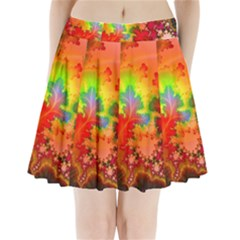 Background Abstract Color Form Pleated Mini Skirt