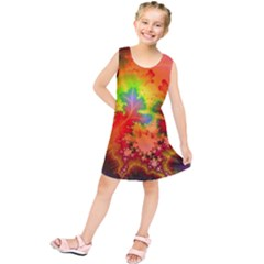 Background Abstract Color Form Kids  Tunic Dress