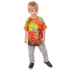 Background Abstract Color Form Kids  Raglan Tee