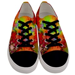 Background Abstract Color Form Men s Low Top Canvas Sneakers