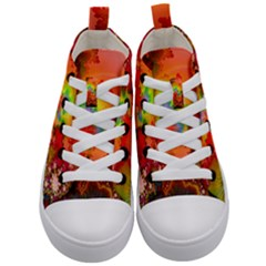 Background Abstract Color Form Kids  Mid Top Canvas Sneakers