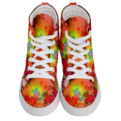 Background Abstract Color Form Men s Hi Top Skate Sneakers