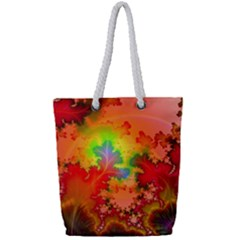 Background Abstract Color Form Full Print Rope Handle Tote (small)