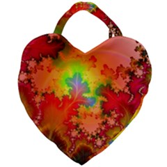 Background Abstract Color Form Giant Heart Shaped Tote