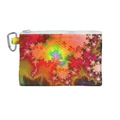 Background Abstract Color Form Canvas Cosmetic Bag (medium)