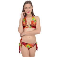 Background Abstract Color Form Tie It Up Bikini Set