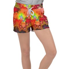 Background Abstract Color Form Women s Velour Lounge Shorts