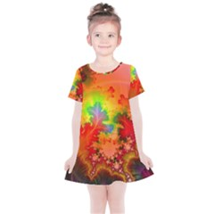 Background Abstract Color Form Kids  Simple Cotton Dress