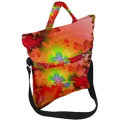 Background Abstract Color Form Fold Over Handle Tote Bag by Pakrebo