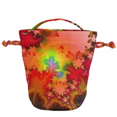 Background Abstract Color Form Drawstring Bucket Bag