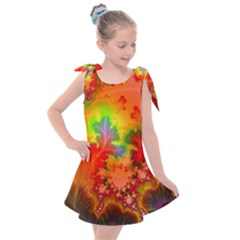 Background Abstract Color Form Kids  Tie Up Tunic Dress