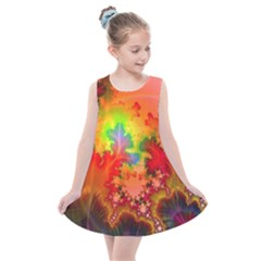 Background Abstract Color Form Kids  Summer Dress