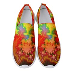 Background Abstract Color Form Women s Slip On Sneakers
