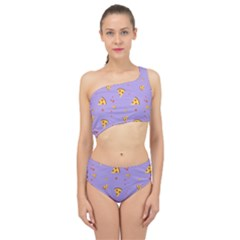 Pizza Pattern Violet Pepperoni Cheese Funny Slices Spliced Up Two Piece Swimsuit by genx