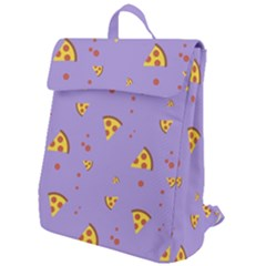 Pizza Pattern Violet Pepperoni Cheese Funny Slices Flap Top Backpack by genx