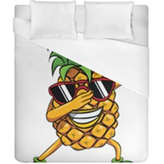 Dabbing Pineapple Sunglasses Shirt Aloha Hawaii Beach Gift Duvet Cover (california King Size) by SilentSoulArts