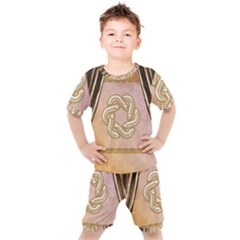 Decorative Celtic Knot Kids  Tee And Shorts Set by FantasyWorld7