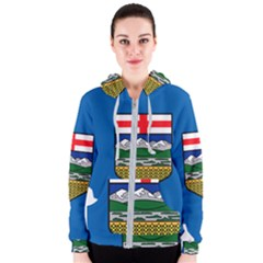Flag Map Of Alberta Women s Zipper Hoodie