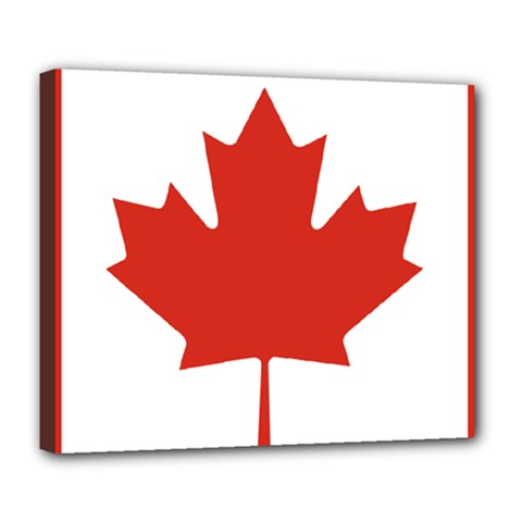 National Flag Of Canada Deluxe Canvas 24  X 20  (stretched) by abbeyz71