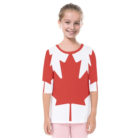 National Flag Of Canada Kids  Quarter Sleeve Raglan Tee by abbeyz71