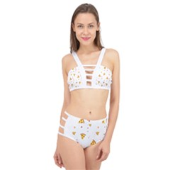 Pizza Pattern Pepperoni Cheese Funny Slices Cage Up Bikini Set by genx