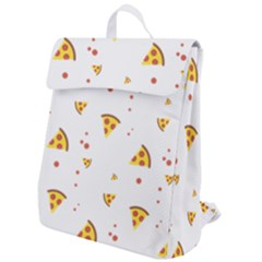 Pizza Pattern Pepperoni Cheese Funny Slices Flap Top Backpack by genx