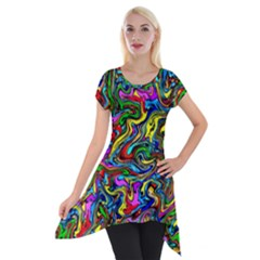 Graffiti 3 2 Short Sleeve Side Drop Tunic