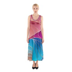 Modern Colorful Abstract Art Sleeveless Maxi Dress