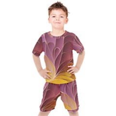 Modern Colorful Abstract Art Kids  Tee And Shorts Set by tarastyle