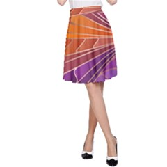 Modern Colorful Abstract Art A Line Skirt by tarastyle