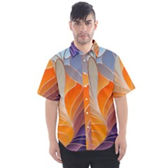 Modern Colorful Abstract Art Men s Short Sleeve Shirt