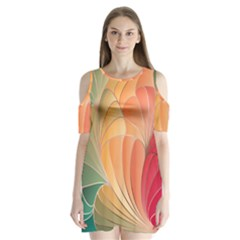 Modern Colorful Abstract Art Shoulder Cutout Velvet One Piece by tarastyle